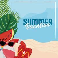 Sommerferien Strand vektor