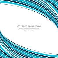 Abstrakt kreativ blå vågig bakgrund vektor
