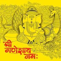 Lord Ganapati Hintergrund für Ganesh Chaturthi vektor