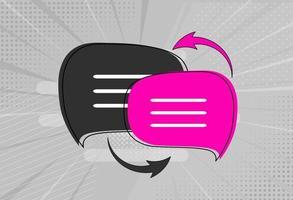 Sprachübersetzungsikonenkonzept mit Sprechblase vektor