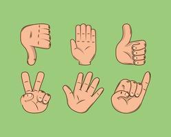 Hände andere Geste vektor