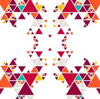 Abstrakter bunter Dreieckmusterhintergrund vektor