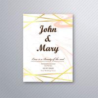 Hochzeitskartenschablone Luxus-Design-Vektor