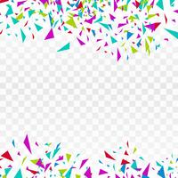 Buntes Confettidesign der abstrakten Hintergrundpartyfeier vektor