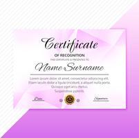 Schöne stilvolle Zertifikatvorlage mit Polygondesign