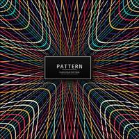 Moderne dunkle bunte Linien Muster Design