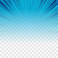 Transparenter Hintergrundvektor der modernen blauen Strahlen