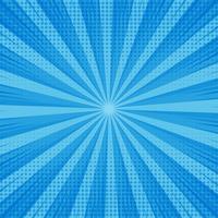 Abstrakter blauer komischer Hintergrund mit punktiertem Design vektor