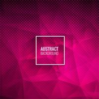 Abstrakt rosa polygon prickad bakgrunds illustration vektor