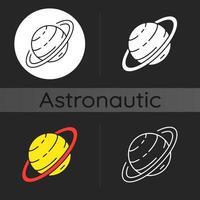 Saturn dunkles Thema Symbol vektor