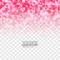 Transparente Hintergrundillustration des schönen rosa Polygons vektor