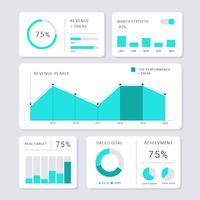 Modernen Chart UI Kit minimalistischen Stil vektor