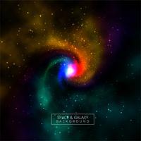 Glänzender Hintergrund der bunten Galaxie des Universums vektor