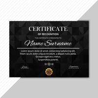 Abstrakte dunkle Zertifikatschablonen-Vektorillustration