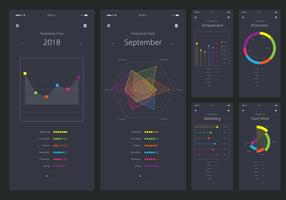 Karten-UI-Kit Mobiles Element-Set vektor