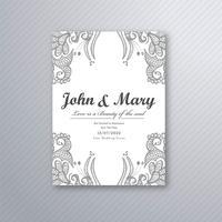 Dekorativer Hochzeitskarten-Schablonenvektor