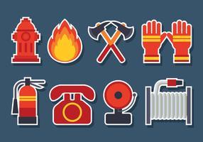 Brandbekämpning ikoner Vector