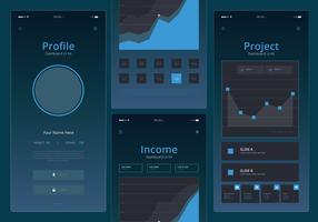 Karten-UI-Kit Mobiles Element-Set
