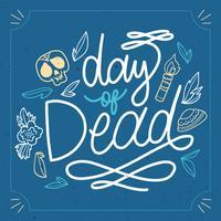 dag med död bokstäver vektor