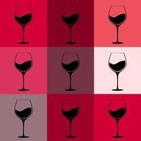 volles Glas Rotweinhintergrund vektor