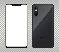 två mockup smartphones enheter ikoner vektor