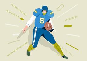 American Football Mann läuft vektor