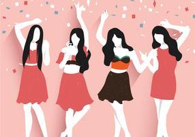 Partys und Versammlungen mit Freunden vektor