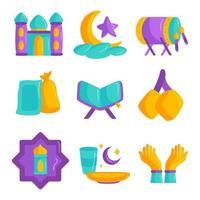 islamische Ikonensammlung vektor