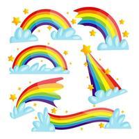 Regenbogen-Aufkleber-Sammlung vektor