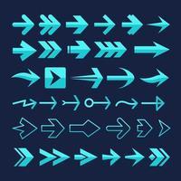 Pfeilelement-Sammlung vektor