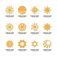 sol ljus företagslogotyp set vektor