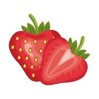 Detaillierte Stilikone der erdbeerfrischen köstlichen Frucht vektor