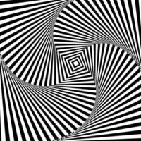 hypnotischer Schwarzweiss-Hintergrund vektor