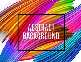 Pinselstriche mit abstraktem Spektrum. strukturierter Kunstrahmenhintergrund vektor