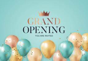 grand opening gratulationer bakgrundskort med konfett vektor