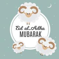 eid al adha kurban bayrami muslimisches Opferfest vektor