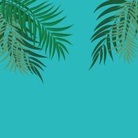 schöne Palme verlässt Silhouette Hintergrundvektorillustration vektor