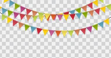 Party Flaggen Hintergrund Vektor-Illustration vektor