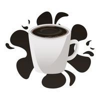 Kaffeetasse Getränk Spritzensymbol vektor