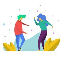 Flache Partys und Zusammenfassungen Vektor-Illustration
