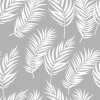 schöne Palme verlässt Silhouette, nahtlose Musterhintergrundvektorillustration vektor