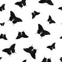 fjäril sömlösa mönster bakgrund vektorillustration vektor