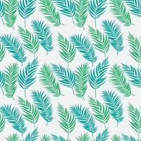 schöne Palme verlässt Silhouette nahtlose Musterhintergrundvektorillustration vektor