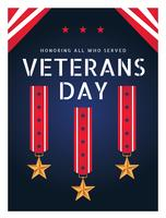 Veterans dagaffisch vektor