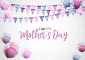 glückliche Muttertagsgrußkarte mit Hintergrund vektor