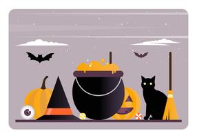 Vektor Halloween Elemente und Zubehör