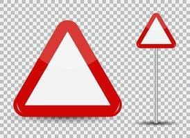 Warnschild. rotes Dreieck vektor