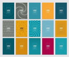 große Sammlung einfacher minimaler Abdeckungen. geometrisches Muster des Geschäftsschablonendesigns vektor