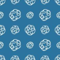 Hand gezeichnete Pinsel kritzeln Blumen nahtloses Muster, Vektor-Illustration vektor