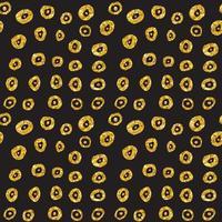 Hand gezeichnetes gepunktetes nahtloses Goldglitzermuster. Pinselkreise und Punkte nahtloses Muster, Vektorillustration vektor